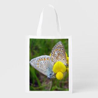 Common Blue Butterflies Reusable Bag