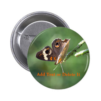 Common Buckeye Butterfly button