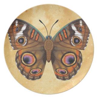 Common Buckeye Butterfly Plate