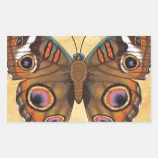 Common Buckeye Butterfly Rectangular Sticker