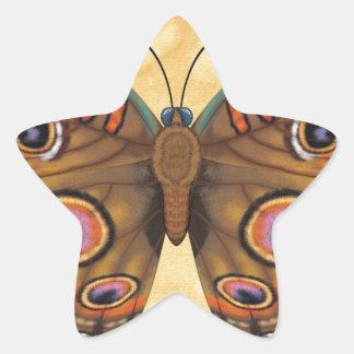 Common Buckeye Butterfly Star Sticker