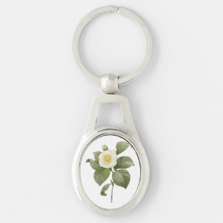 common camellia(Camellia japonica) by Redouté Key Ring