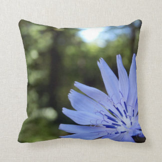 Common Chicory Throw Cushion