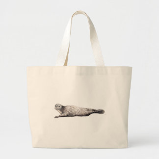 Common Foca Common Seal Large Tote Bag