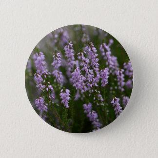 Common Heather (Calluna vulgaris) 6 Cm Round Badge