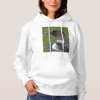 Common loon in water, Canada Hoodie