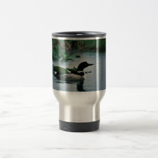Common Loon on Water Travel Mug