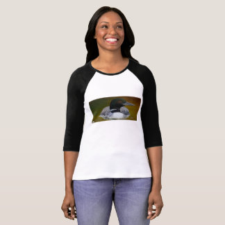 Common Loon Postage 3/4 Womens T T-Shirt