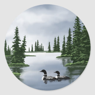 Common Loons Classic Round Sticker
