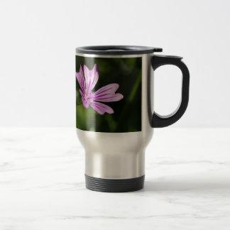 Common Mallow Flower Travel Mug