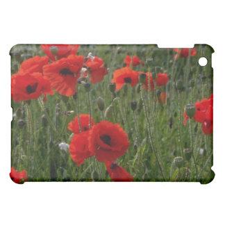 Common poppies flowers iPad mini cover