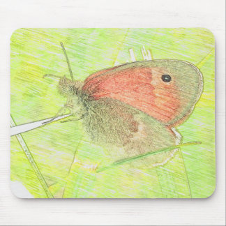 Common Ringlet Butterfly Mouse Pad