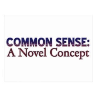 Common Sense A Novel Concept Post Card