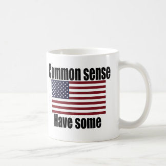 Common Sense American Flag Coffee Mug