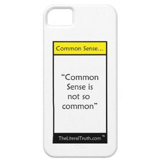 Common Sense… iPhone 5 Covers