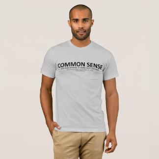 Common Sense (for light bg) T-Shirt
