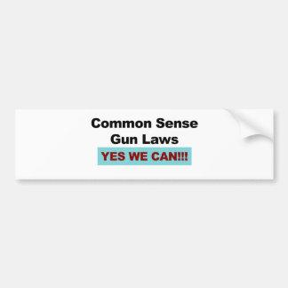 Common Sense Gun Laws - Yes We Can! Bumper Sticker