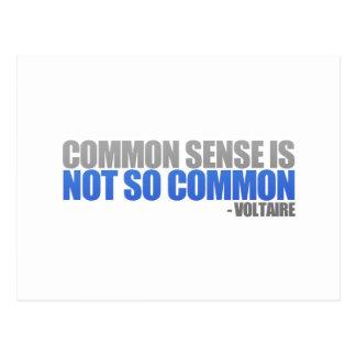 Common Sense Postcard