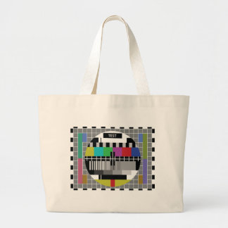 Common Test the PAL TV Large Tote Bag