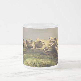 Common Tree Frog Polypedates Leucomystax Frosted Glass Mug