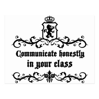 Communicate Honestly In Your Class Postcard