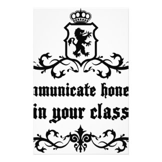Communicate Honestly In Your Class Stationery