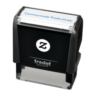 """Communicate Productively"" Self Inking Stamp"