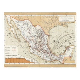 Communication and Transportation of Mexico Postcard