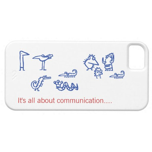 Communication - Funny Alien Creatures iphone5 Case iPhone 5/5S Covers