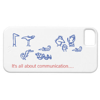 Communication - Funny Alien Creatures iphone5 Case iPhone 5 Case