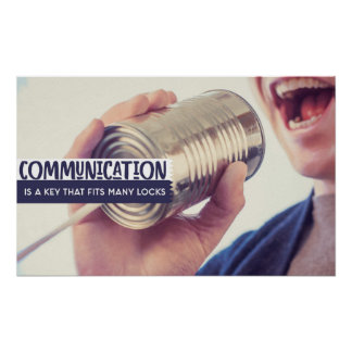 Communication Is A Key Poster