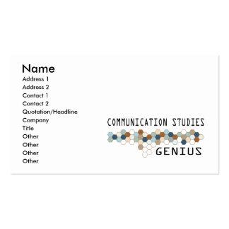 Communication Studies Genius Business Card