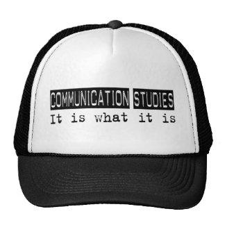 Communication Studies It Is Hats