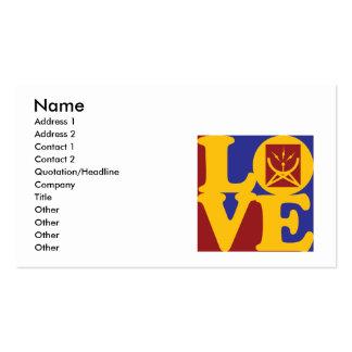 Communication Studies Love Business Card Template