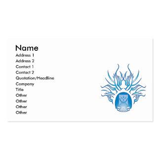 Communication Studies Skull Business Card