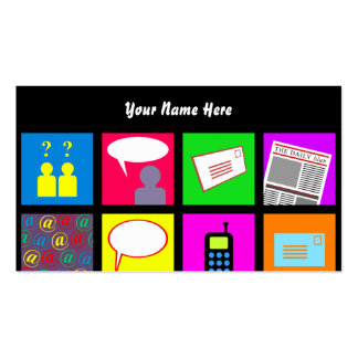 Communication Tile Wallpaper, Your Name Here Pack Of Standard Business Cards