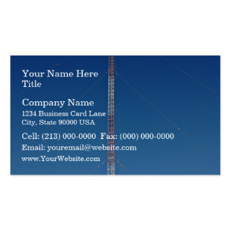 Communication tower against blue sky business card