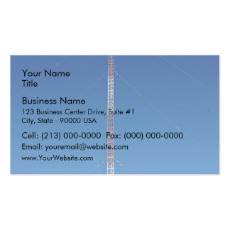 Communication tower against blue sky business card templates