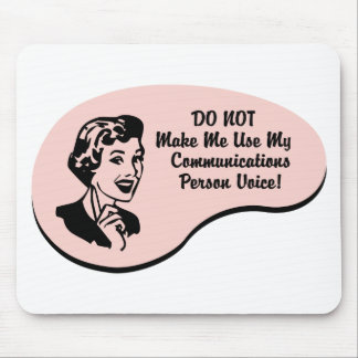 Communications Person Voice Mouse Pad
