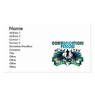 Communications Persons Gone Wild Business Card