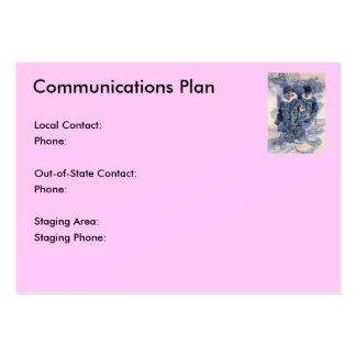 Communications Plan Business Card