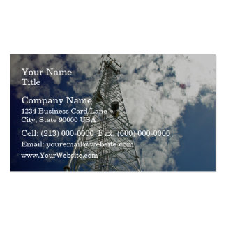 Communications tower reaching for the clouds business card templates