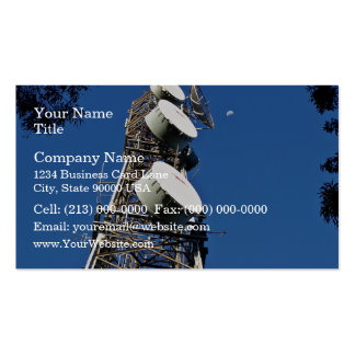 Communications tower with a beautiful blue sky business card templates