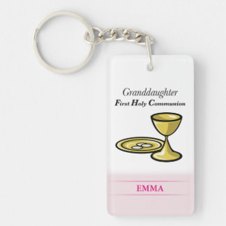 Communion Body and Blood Granddaughter Key Ring