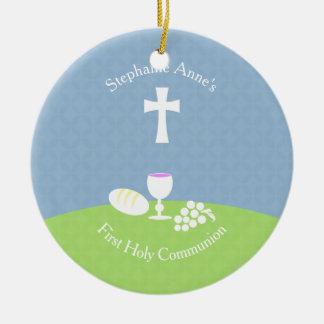 Communion Bread of Life Ceramic Ornament