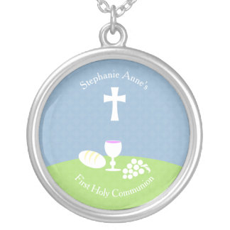 Communion Bread of Life Silver Plated Necklace