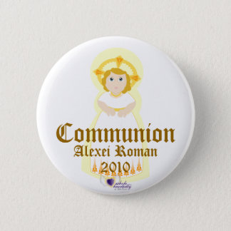 Communion Button- Customize 6 Cm Round Badge