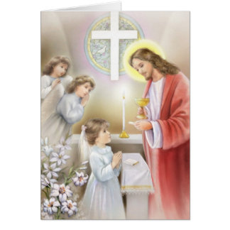 Communion confirmation for girls card