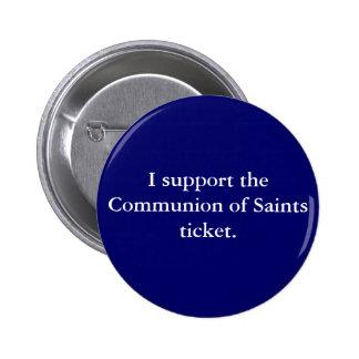 Communion of Saints '08 Pinback Buttons