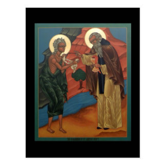Communion of St. Mary of Egypt Prayer Card Postcard